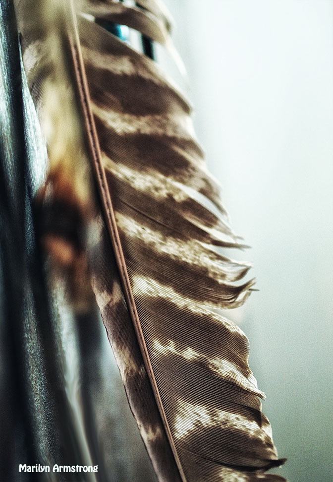 feather peace pipe