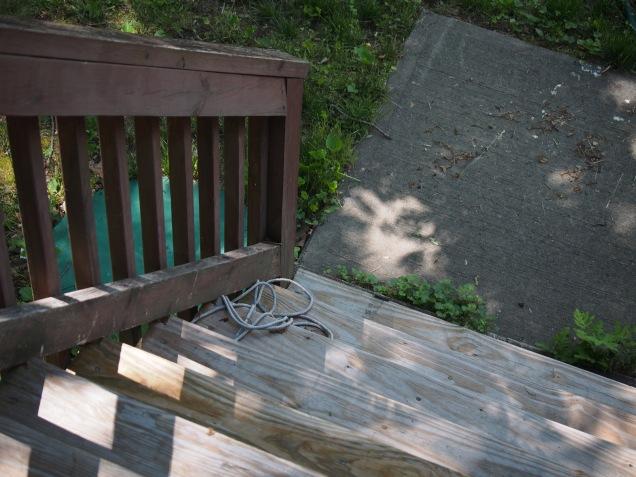 deck stairway steps down
