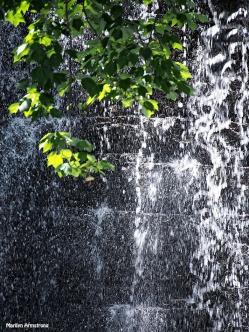 closeup manchaug dam waterfall