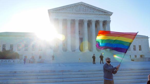 Taken April 28, day of oral arguments to Supreme Court, CC License