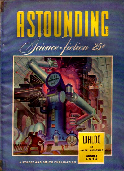 """Waldo Astounding SF Aug 1942."" Licensed under Fair use via Wikipedia - Waldo Astounding SF Aug 1942"