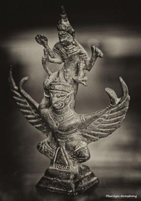 Vishnu riding Garuda - probably 16th century, but it's difficult to date bronze. Probably Tibetan.