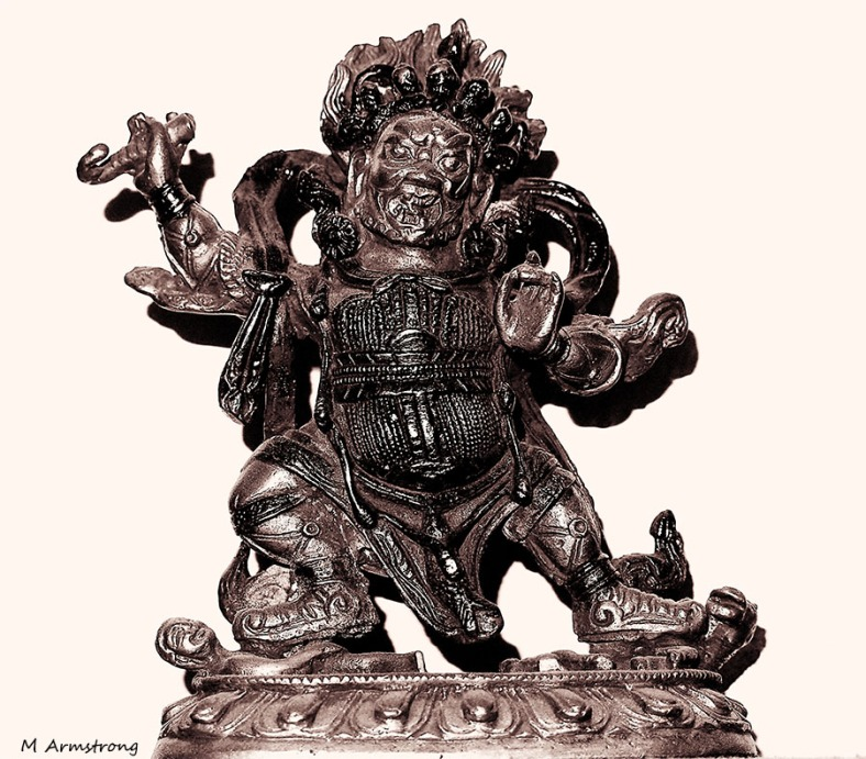 Old Bronze buddha, Tibet, date unknown, Maybe 18th century.