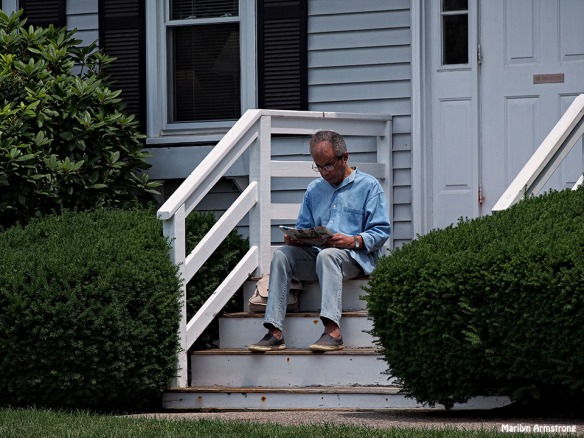 Garry on the steps