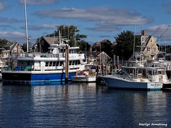 Hyannisport docked yachts