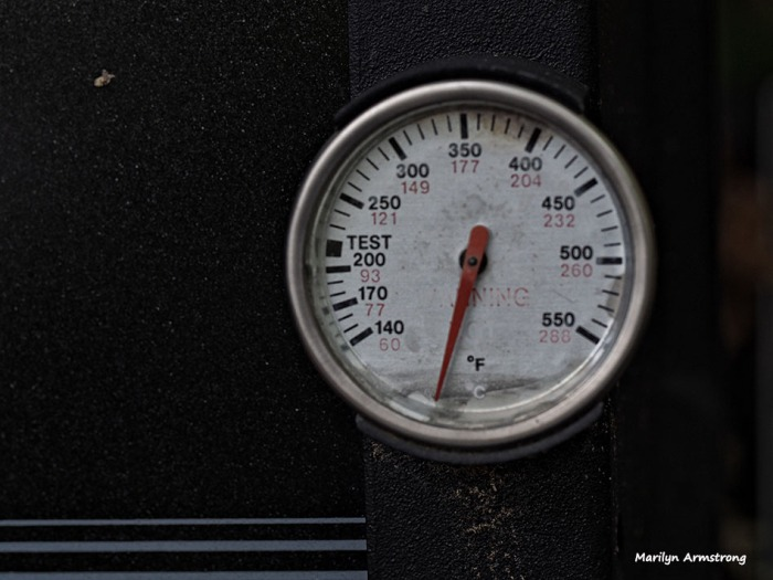 A grill thermometer