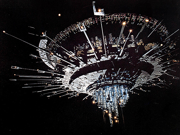CLOSE ENCOUNTERS OF THE THIRD KIND, CLOSE ENCOUNTERS OF THE THIRD KIND US 1977 THE MOTHER SHIP CLOSE ENCOUNTERS OF THE THIRD KIND US 1977 THE MOTHER SHIP Date 1977. Photo by: Mary Evans/COLUMBIA PICTURES/EMI FILMS COLUMBIA PICTURES INDUSTRIES I/Ronald Grant/Everett Collection(10307178)