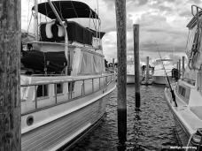 Marina and moored boat