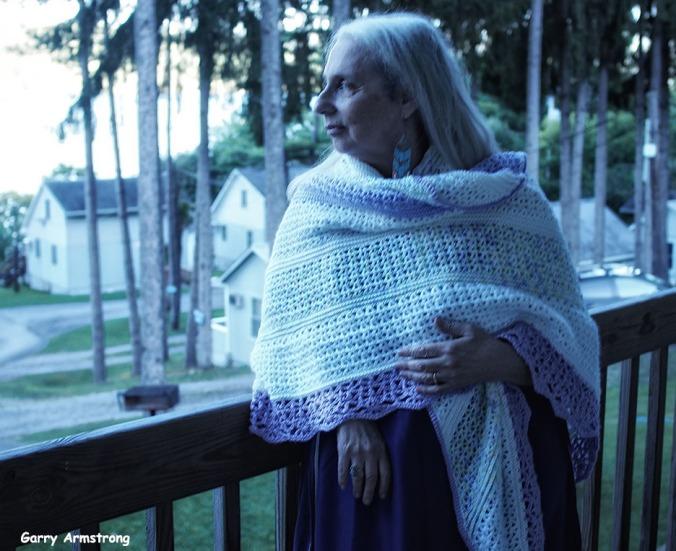 Marilyn with shawl