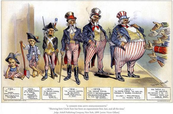Uncle sam political cartoon 1899