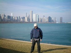 Rich in Chicago, by the lake