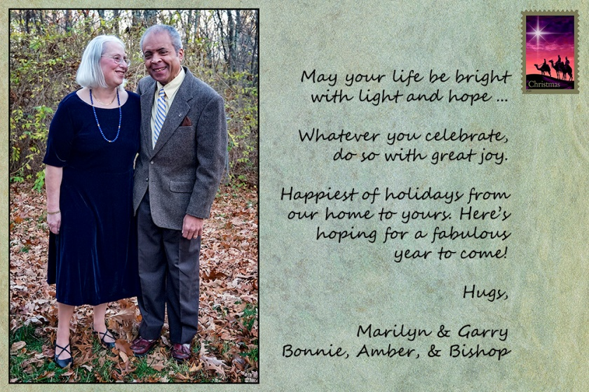 Photograph and card designed and created by Bob Mielke