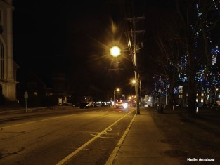 The streetlight is on. Time to go home!