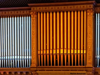 Huge pipe organ
