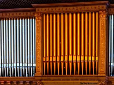 Huge pipe organ