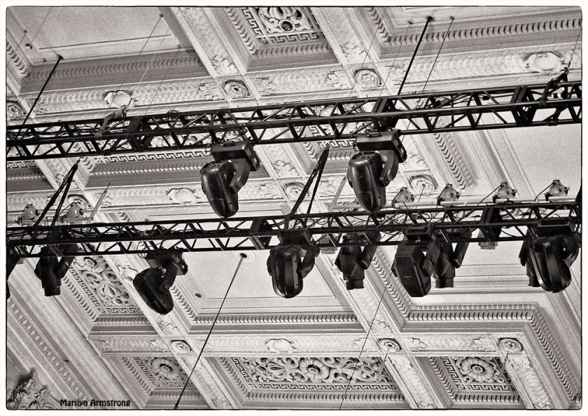 Stage lights at the Boston Sympony