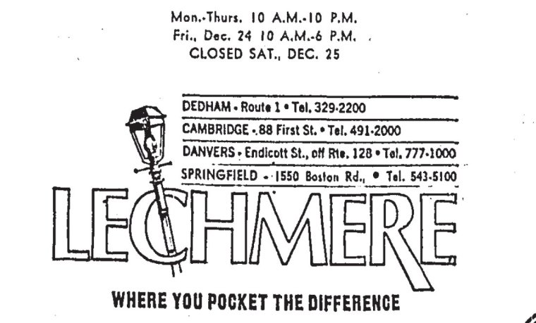 Lechmere advert