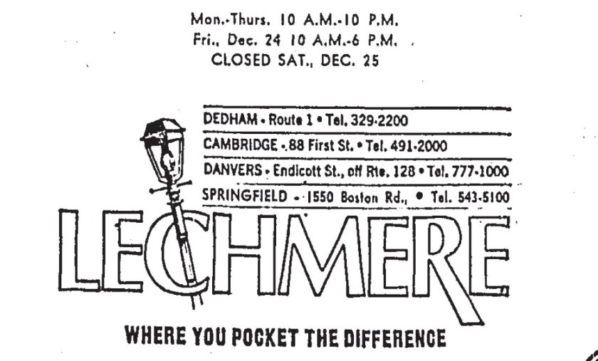 Lechmere advert