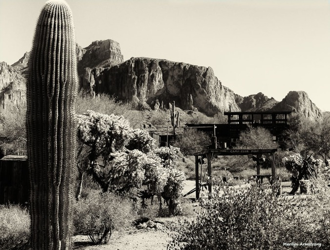 In the southwest, S means saguaro ... and the Superstition Mountains