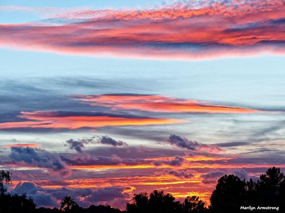 Sunset over the Phoenix mountains, Arizona