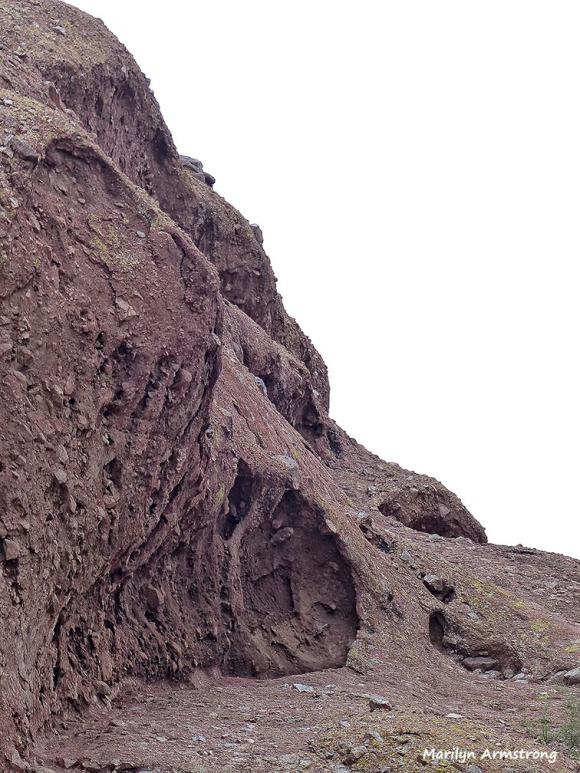 Coarse rocks on the edge of Phoenix mountains