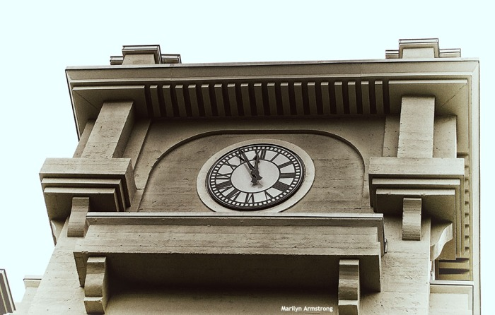 1911 BW Mill Clock Tower vintage