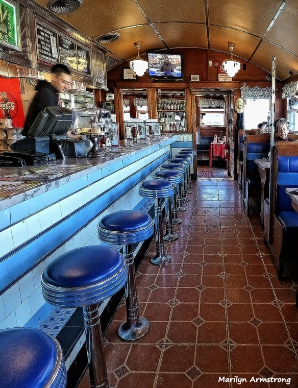 In the diner ... would you like a booth or sit at the counter?