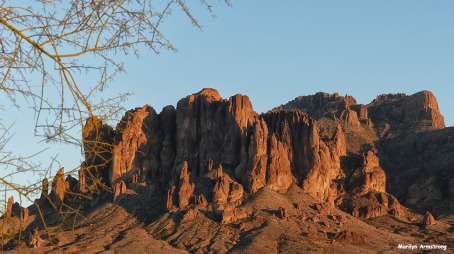 The Superstitions - iconic rocky mountains in Arizona