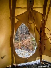 Through the tepee door ...