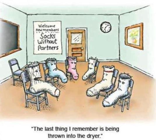 socks without partners cartoon