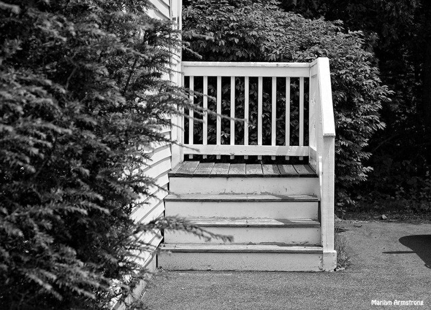 I would call this a stoop, but some would not because it leads to a side door, not the front