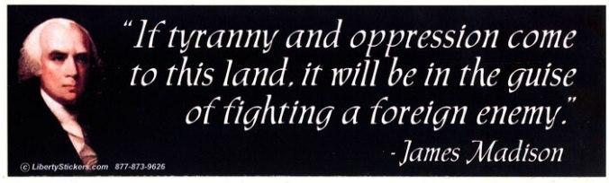 tyranny and oppression - madison