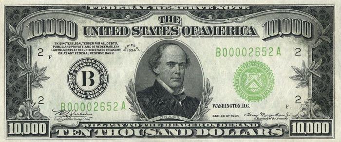 72-$ Ten thousand dollar bill