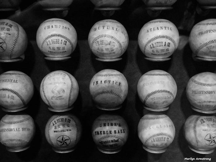 Baseballs in a museum!