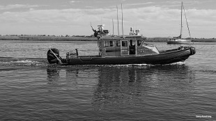 Tugboat in the water