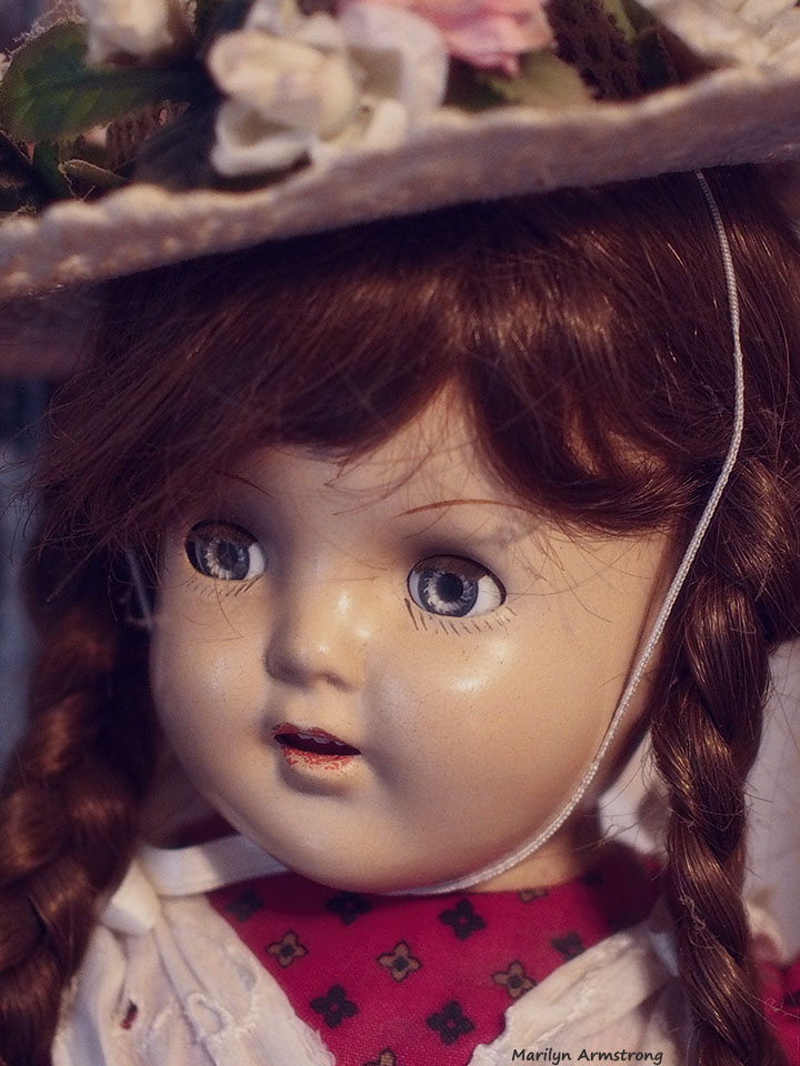 "Ana McGuffey - 1946 - Mme. Alexander - Doll's faces are intended to embody the ""adorable"" factor of real toddlers."