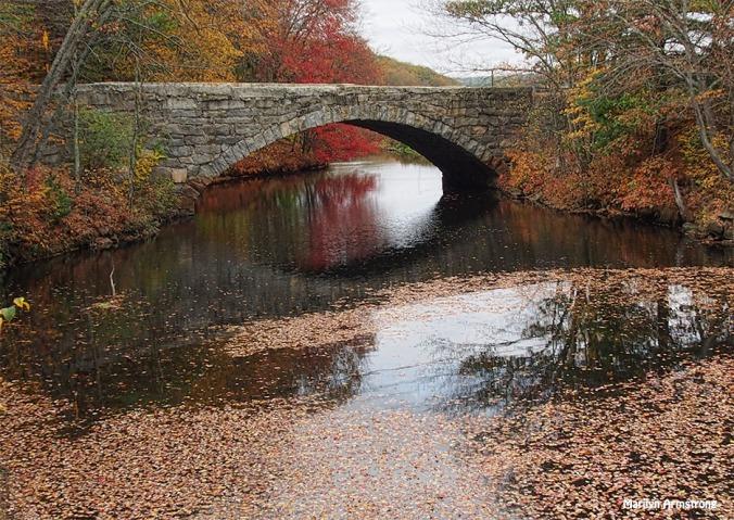 The bridge over the Blackstone Canal, peak foliage, October 2016