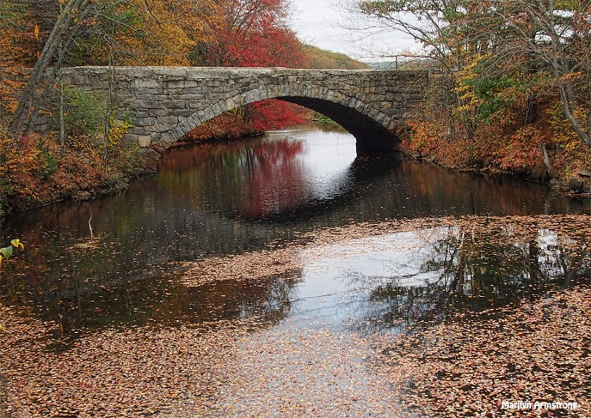The bridge over the Blackstone Canal, peak foliage, October 2016