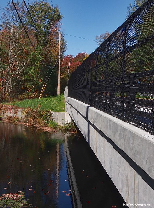 There's a new bridge across Route 98 in Rhode Island.