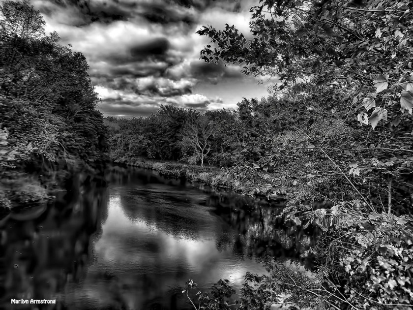 Dramatic clouds over the Blackstone Canal