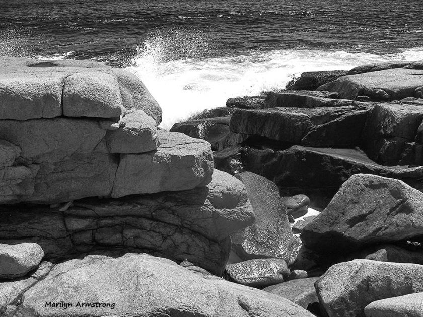 Rocks along the Gloucester coast