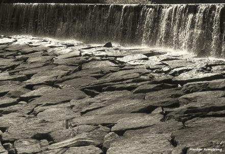 Stones under the dam