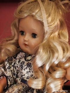 """Toni with platinum hair, 14"""", probably mid 1950s"""