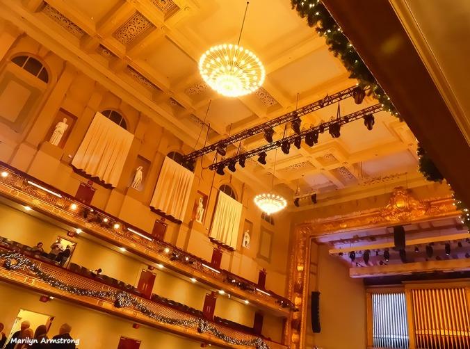 Symphony Hall near Christmas