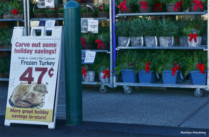 Buy your wreathes and turkey at the same time.