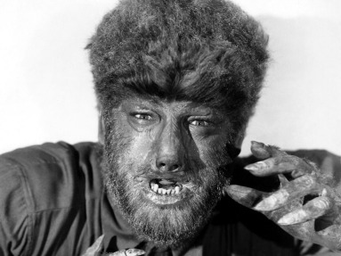 Gibbs with Lon Chaney Jr. as the Wolfman