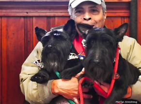Garry with terriers