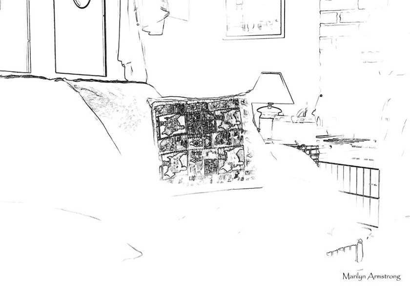 Our living room as a simple line drawing