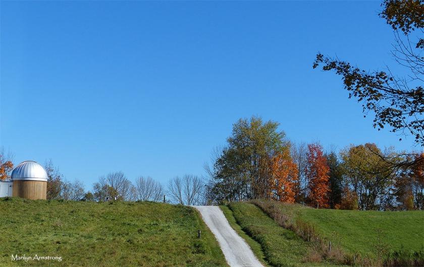 Sunny autumn day in Vermont