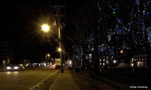 Uxbridge, winter, night